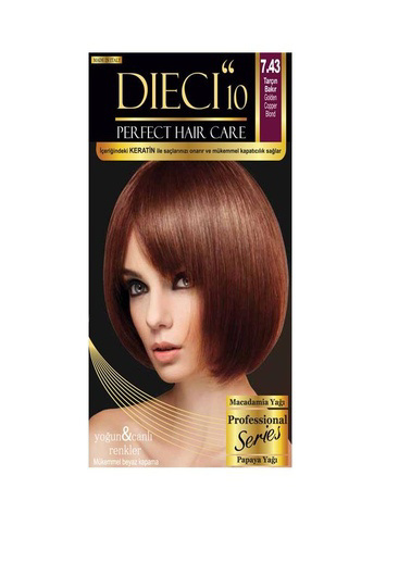 Dıecı Dıecı 10 Perfect Kit Saç Boyası 7,43 Tarçın Bakır Oranj